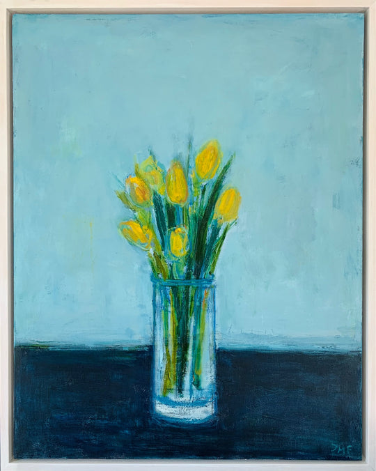 Still Life with Yellow Tulips