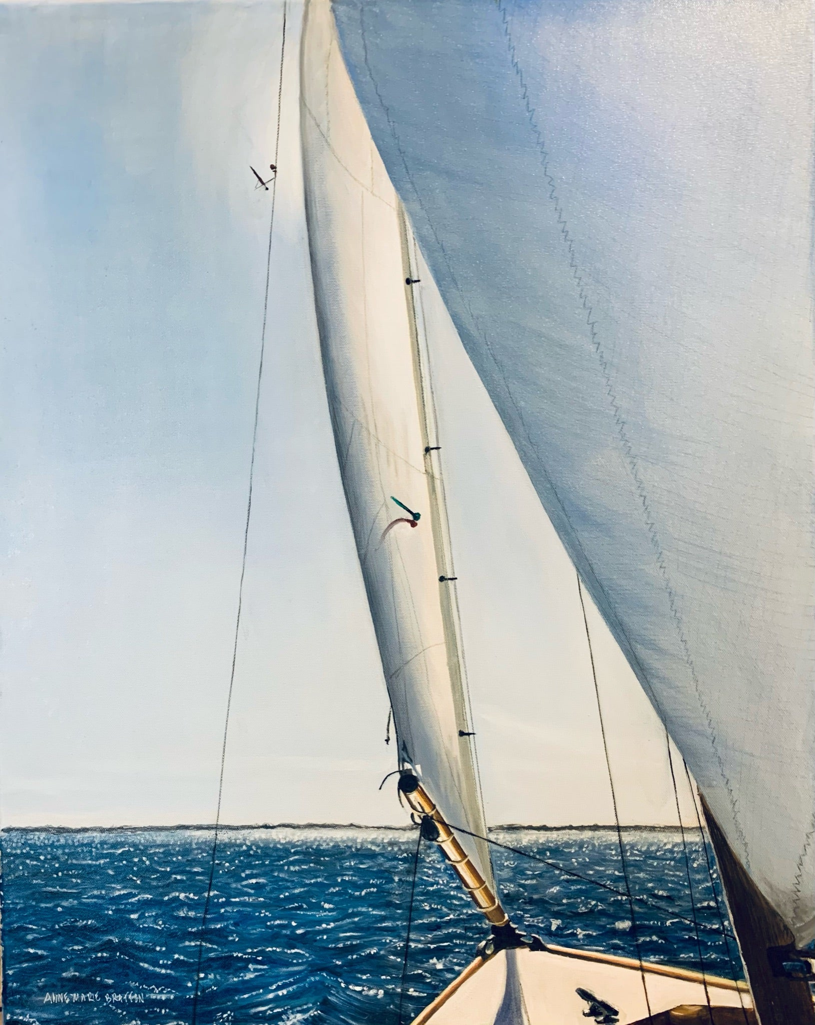 Sailing on Sun Sparkled Waters