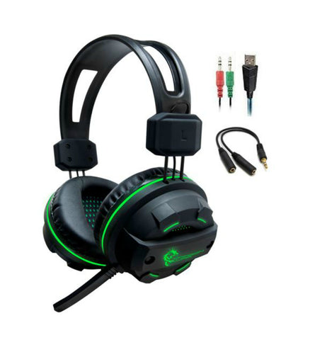 Dragonwar Revan Wired Professional Gaming Headset 3.5 mm  Noise Cancel Mic for PC, Xbox One