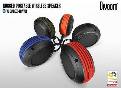 Divoom Voombox Rugged Portable Wireless Bluetooth 4.0 Speaker iPhone, Galaxy, LG, iPad and more