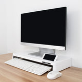 Cyanics i-Bridge Monitor Laptop Stand Slim Universal Monitor Laptop Multimedia Stand with Desk Organizer
