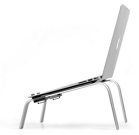 "CYK Studio C-COOL Ergonomic Aluminium Laptop, Cooling Stand for Macbook, Laptops, Notebook (Screen size 11 ~ 15"" screen)"