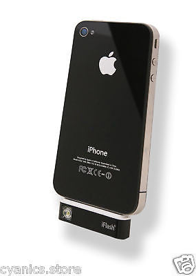 iFlash LED Camera and Video Flash Apple iPhone 4S, 4, 3GS, (Color: Black)