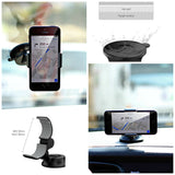 Ppyple Windshield Dashboard Universal Smartphone Car Mount Holder for iPhone, Samsung Galaxy, LG and more
