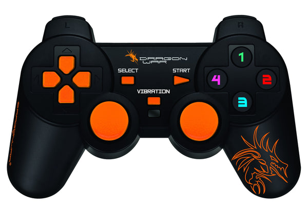 Dragonwar Dragon Shock 17 Key USB 2.0 Wired Game Controller Gamepad with Full Vibration For PC
