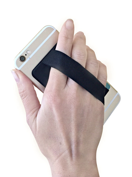 Cyanics Adhesive Stick On Card Holder Pocket Hand Strap Holder for iPhone Smartphone