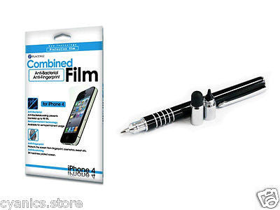 iClooly Elite Stylus Pen, Anti-Bacteria & Fingerprint Screen Protector iPhone 4
