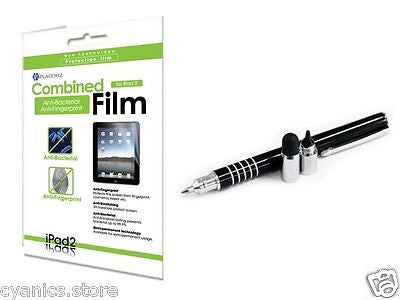 iClooly Elite Stylus Pen, Anti-Bacteria & Fingerprint Screen Protector iPad 2