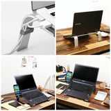 "CYK Studio L-COOL Ergonomic Aluminium Laptop, Cooling Stand for Macbook, Laptops, Notebook (Screen size 11 ~ 15"" screen)"