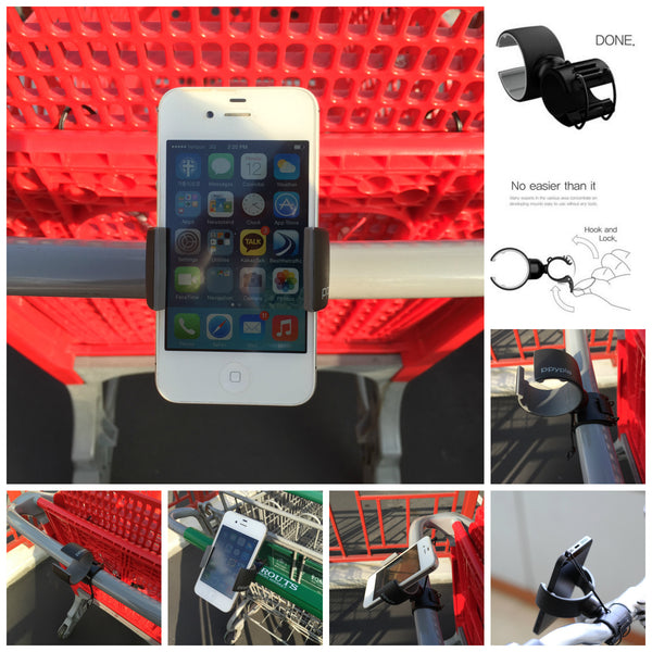 Ppyple Bike, Shopping Cart. Stroller  Mount Holder Cradle for Smartphone iPhone, Samsung Galaxy, LG, HTC