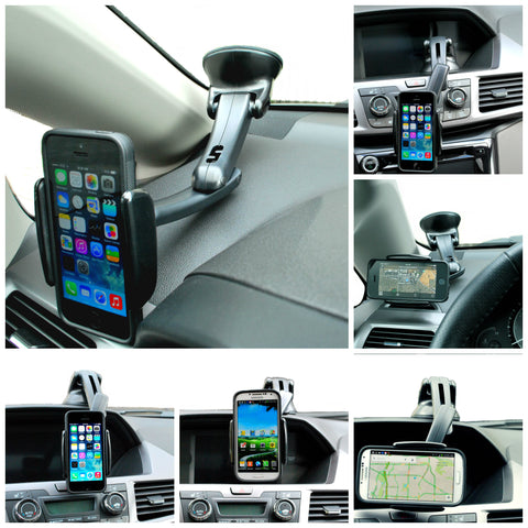 Universal Windshield Dashboard Car Mount Holder for iPhone, Samsung Galaxy, LG and Smartphone