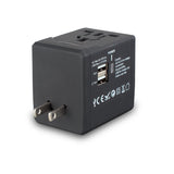 Universal World Travel Power AC Adapter Plug with Dual USB Port AU, US, UK, EU