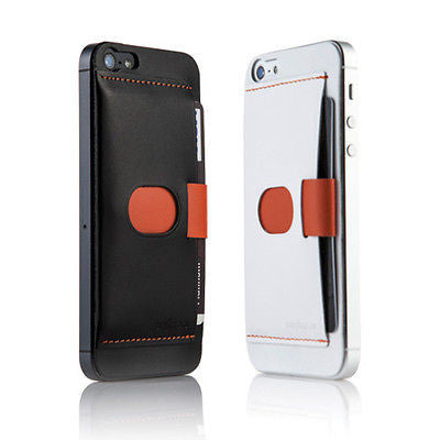 Sinjimoru Leather Protector Cellphone Card Holder (3 cards) for iPhone 5S, 5