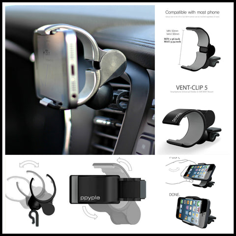 Ppyple Car Air Vent Universal Smartphone Car Mount Holder Cradle for iPhone, Samsung Galaxy, LG
