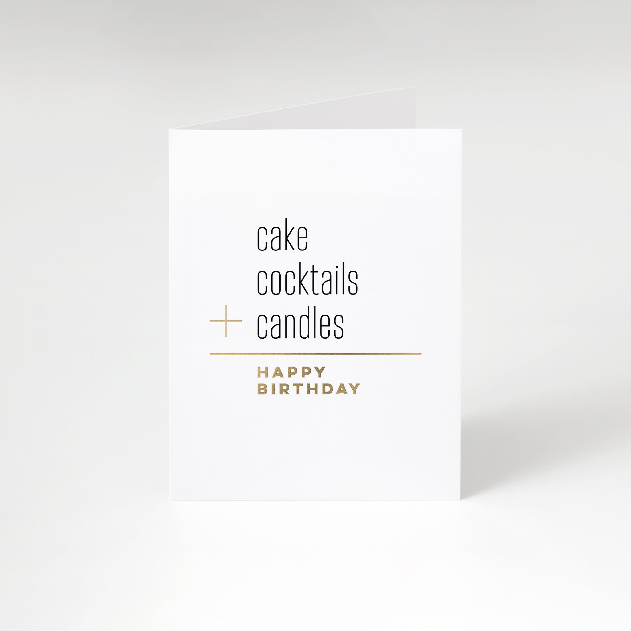 Cake + Candles Birthday Card by Fine Moments