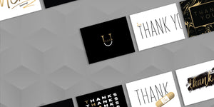 Modern Thank You Cards by Fine Moments