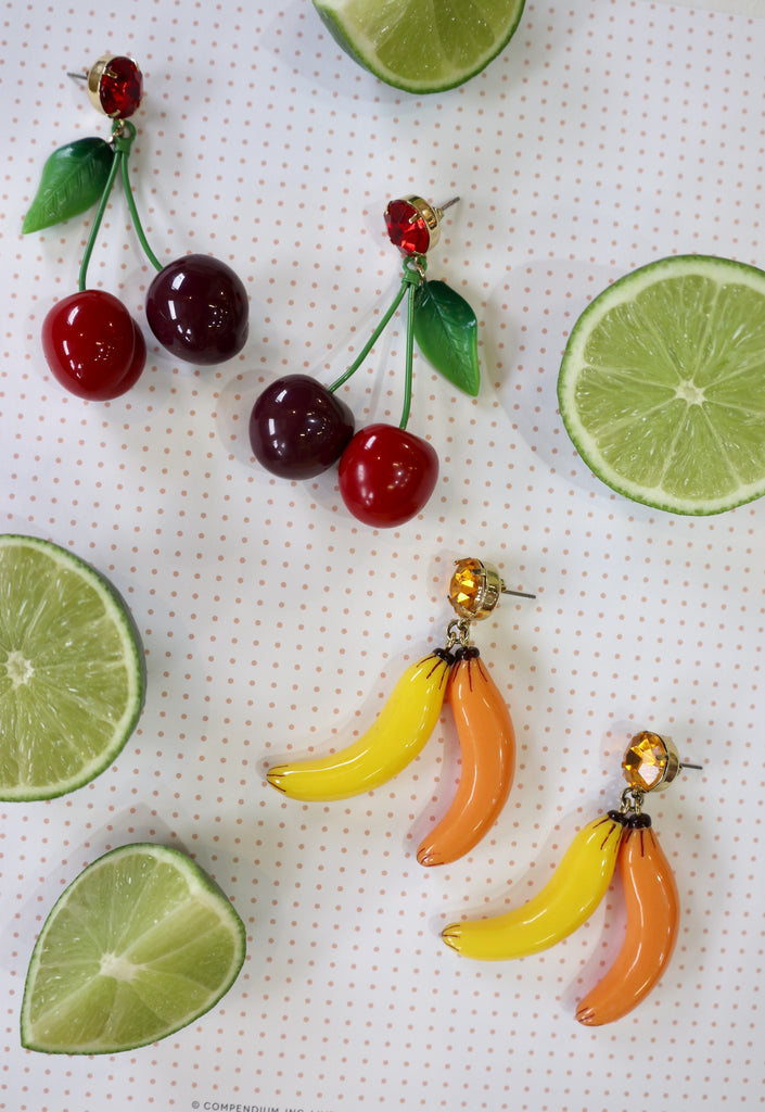 Add a little sweetness to your ensemble with some fun fruity earrings from Coco and Duckie!