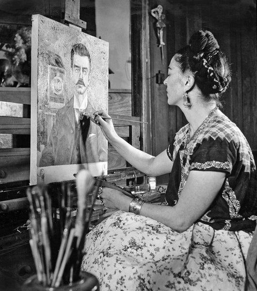 Frida Kahlo at work