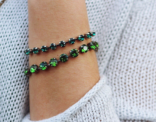 Don't be green with envy, there are plenty of gorgeous bracelets to go around! xo Coco and Duckie