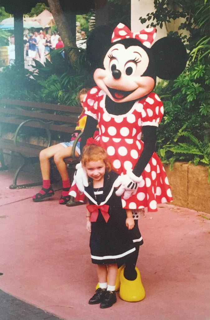 Allison with her style icon, Minnie Mouse! - Coco and Duckie
