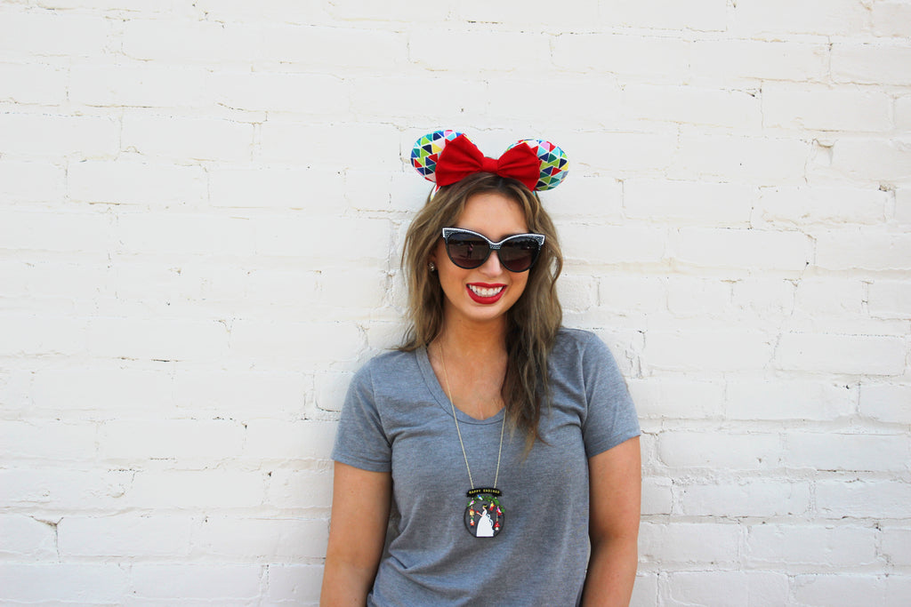 Allison styling some Main Street Ears with Les Nereides and a great pair of Sunglasses, we think Minnie would approve.
