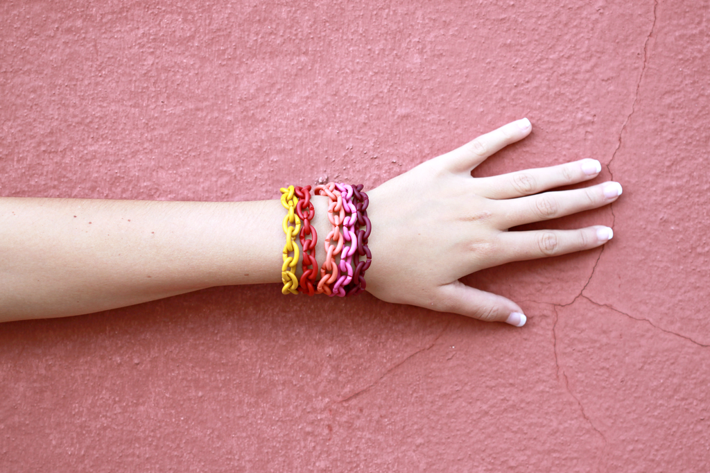 It's getting hot in here! Warm X Jewellery Bracelets in Mellow Yellow, Red, Soft Apricot and Bordeaux