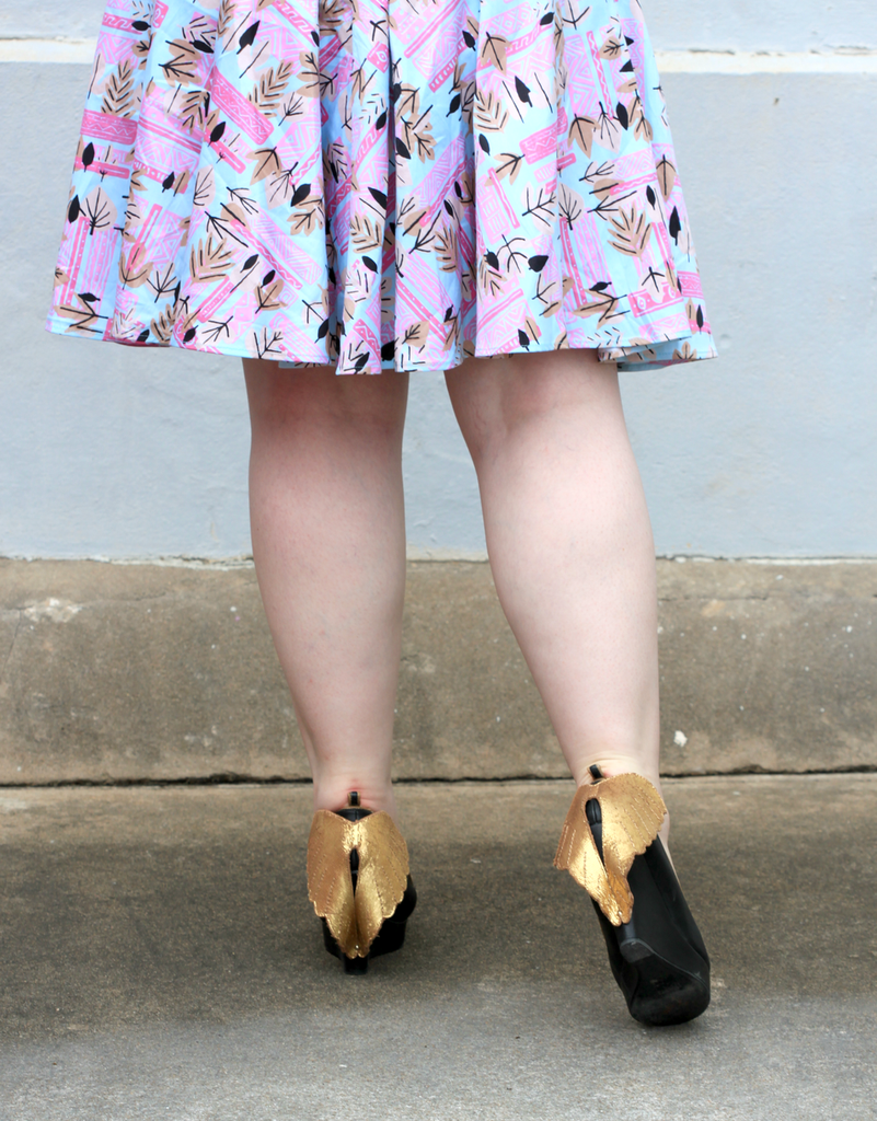 It's all in the details! See Coco's complete #OOTD in our blog post! #MissLFire #CocoAndDuckie #Shoes #Wedges #Wings #LetInTheLovely #Style #Fashion