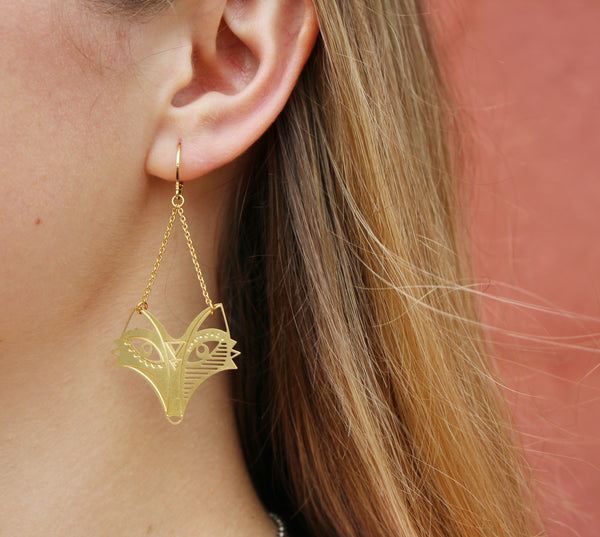 Crazy Like A Fox Earrings at Coco and Duckie. Part of our Autumn Collection