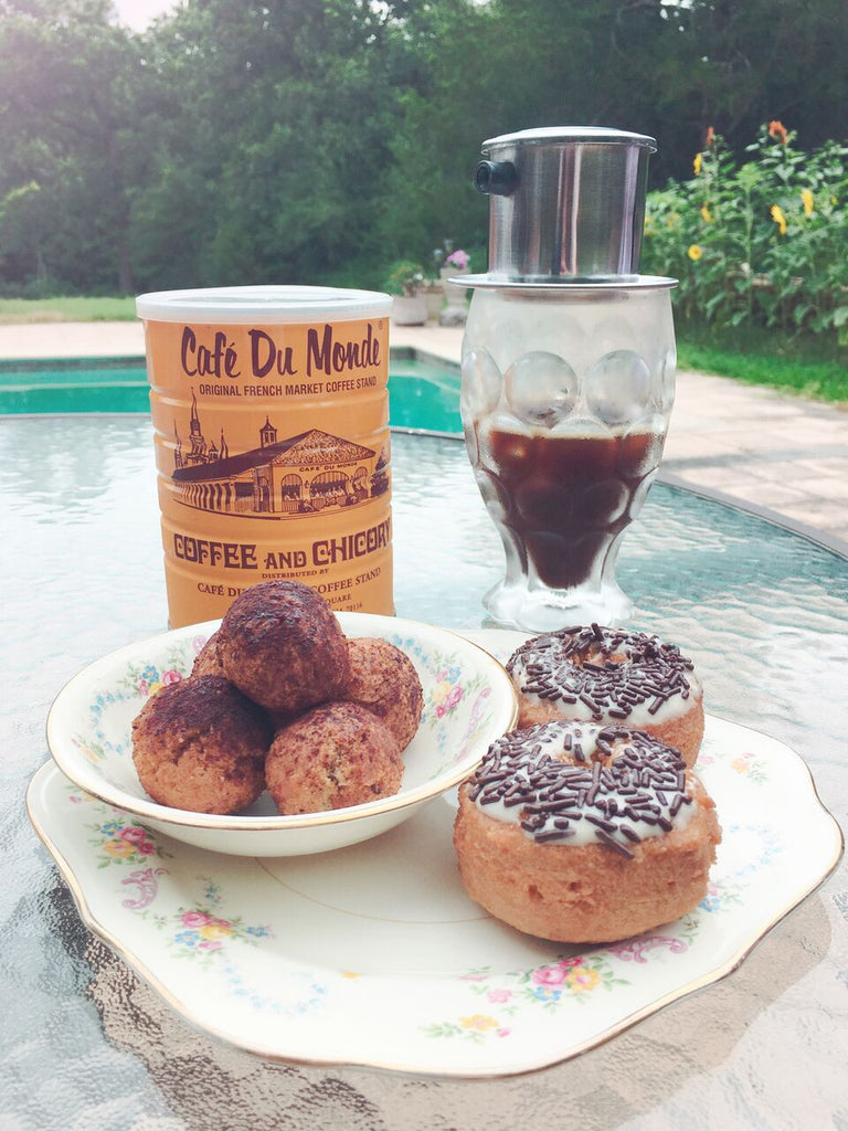 Coffee and Doughnuts, some things are just meant to be. Coffee Coffee Doughnut Recipe on Coco and Duckie's blog. #Recipe #doughnut #NationalDonutDay #Sweets #Cooking #Baking