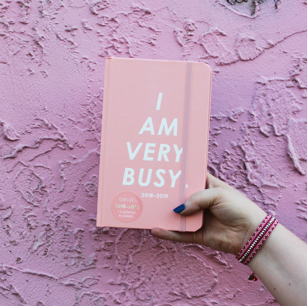 I AM VERY BUSY! You are, too!! Ban.do Planners are a fave amongst the Coco and Duckie girls!