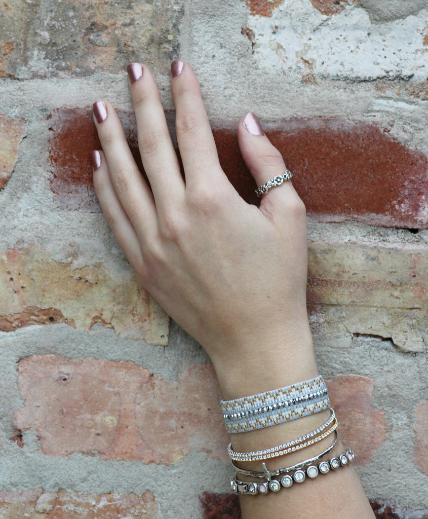 We chose some great transitional bracelets we're featuring in our collection for January at Coco and Duckie!