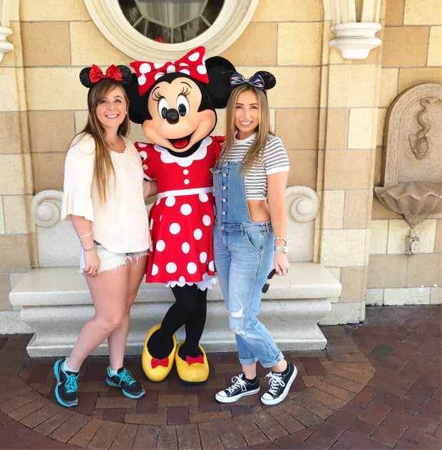 Allison and Heather hanging out with one of Allison's style icons, Minnie Mouse! Read about why Minnie inspires Allison in our blog post ~ Coco and Duckie