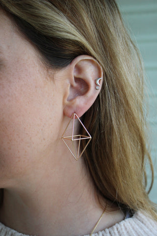 The Modern Octohedron earrings at Coco and Duckie