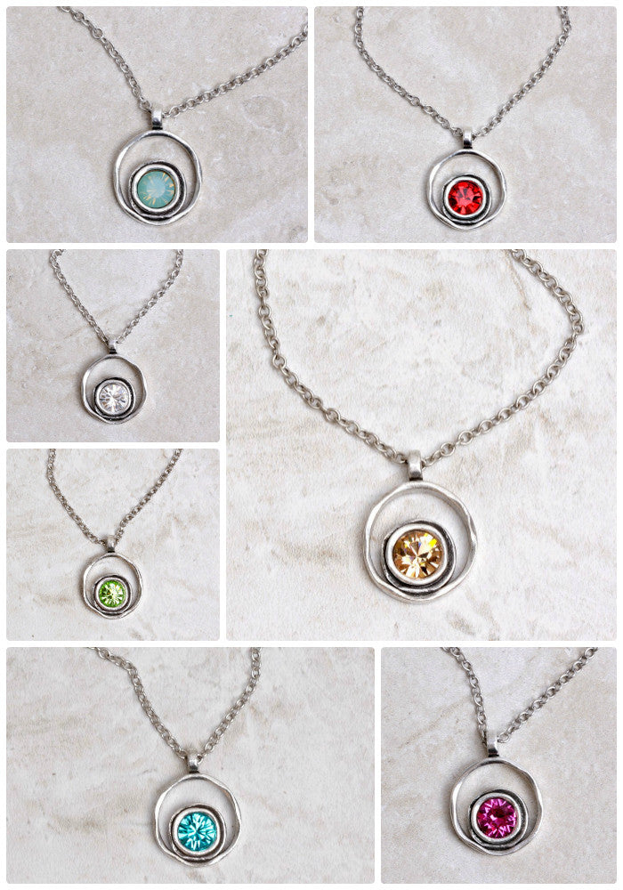 A Rainbow of Serenity Necklaces by Patricia Locke at Coco and Duckie