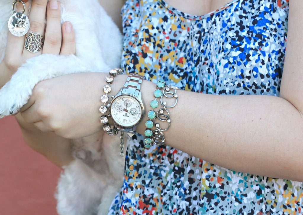 Allison's Arm Candy | Fashion | Bracelet | Watch | On The Blog | LOTD | Coco and Duckie | Colorful | Silver | Accessories | Jewelry