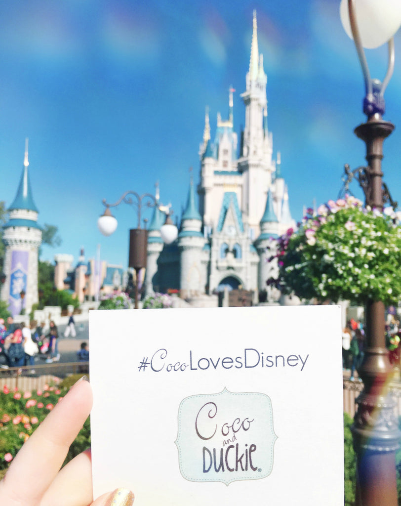 #CocoLovesDisney in front of Cinderella's Castle at Magic Kingdom in Walt Disney World