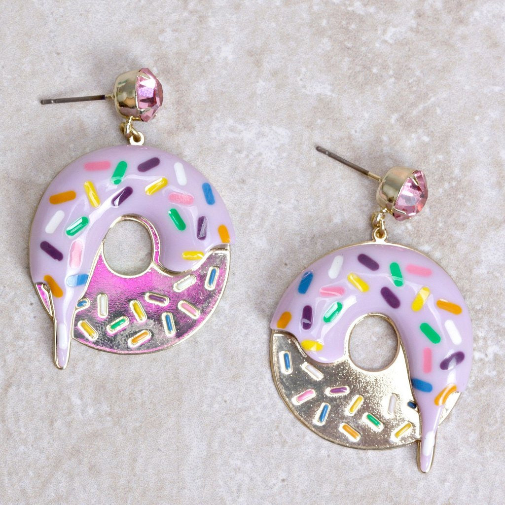 The Doughnut Earrings by N2 Paris at Coco and Duckie! #Earrings #Pastel #Kawaii #Kitschy #Donut #Jewelry #Colorful #ColorfulJewelry