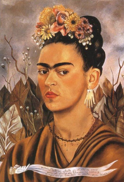 Self Portrait, Dedicated to Dr. Eloesser, 1940. Frida Kahlo