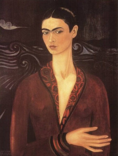 Self Portrait in a Velvet Dress, Frida Kahlo.