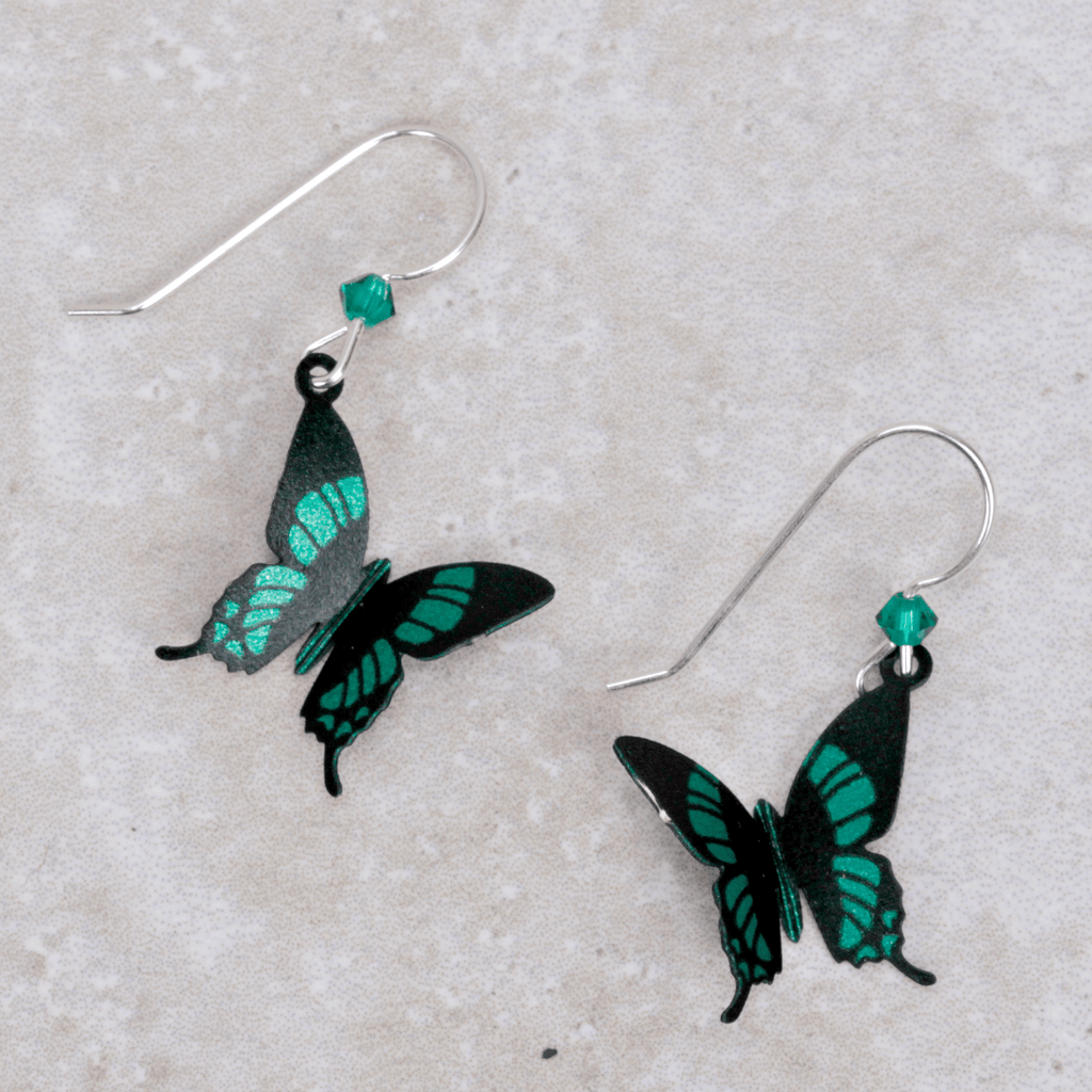 Butterfly Earrings | Emerald - Sienna Sky - Coco and Duckie