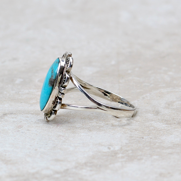 Lela Turquoise Ring - Coco and Duckie