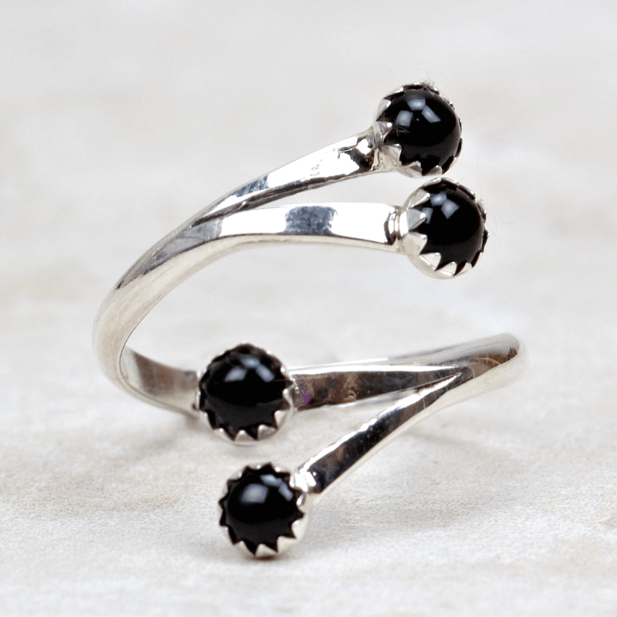 Marla Black Onyx Ring - Southwest Jewelry Artists-ST - Coco and Duckie