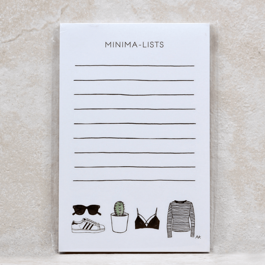 Minima-Lists Notepad - AKR Designs - Coco and Duckie