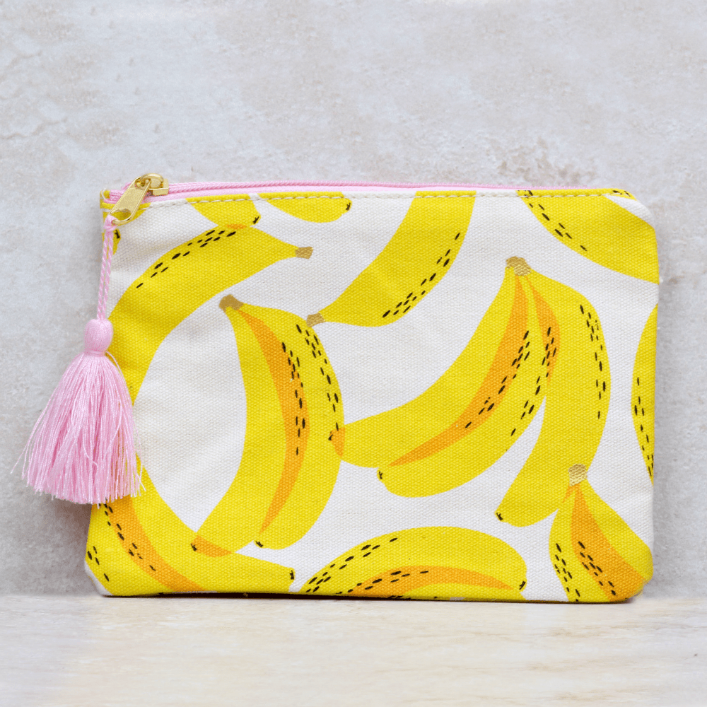 Banana Canvas Cosmetic Bag - Slant - Coco and Duckie