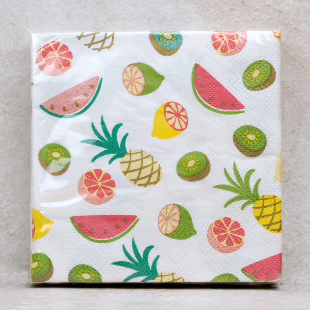 Tropical Fruit Napkins - Slant - Coco and Duckie
