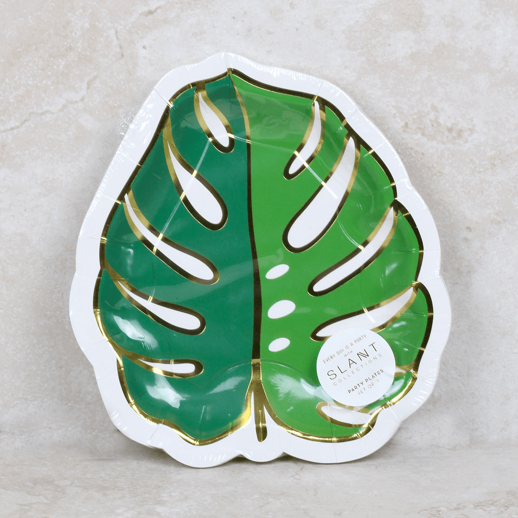 Palm Leaf Party Plates - Slant - Coco and Duckie