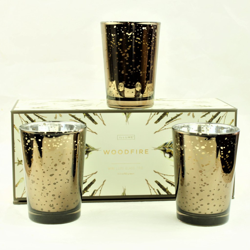 Woodfire Mini Luxe Glass Trio