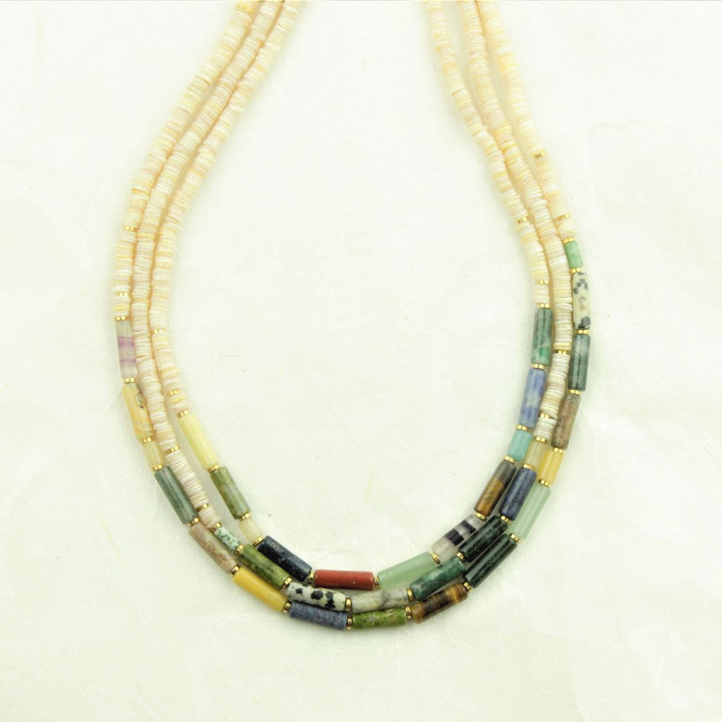 Nature Bijoux Pipeline 3 Strand Necklace - Nature Bijoux - Coco and Duckie