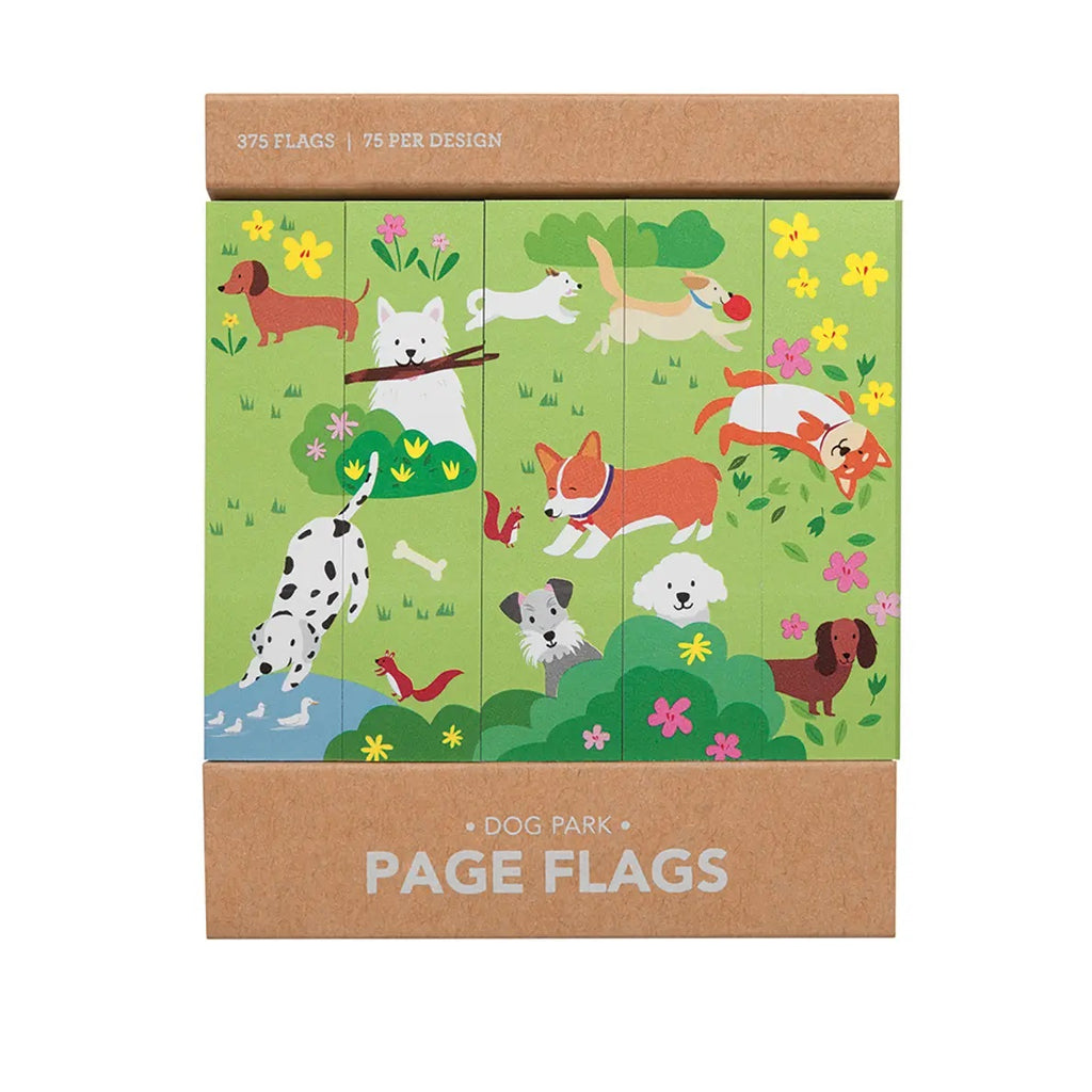Dog Park Page Flags - Girl of All Work - Coco and Duckie