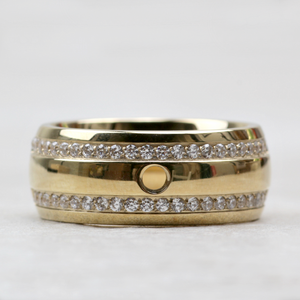 Qudo Interchangeable Lecce Ring | Gold - Coco and Duckie